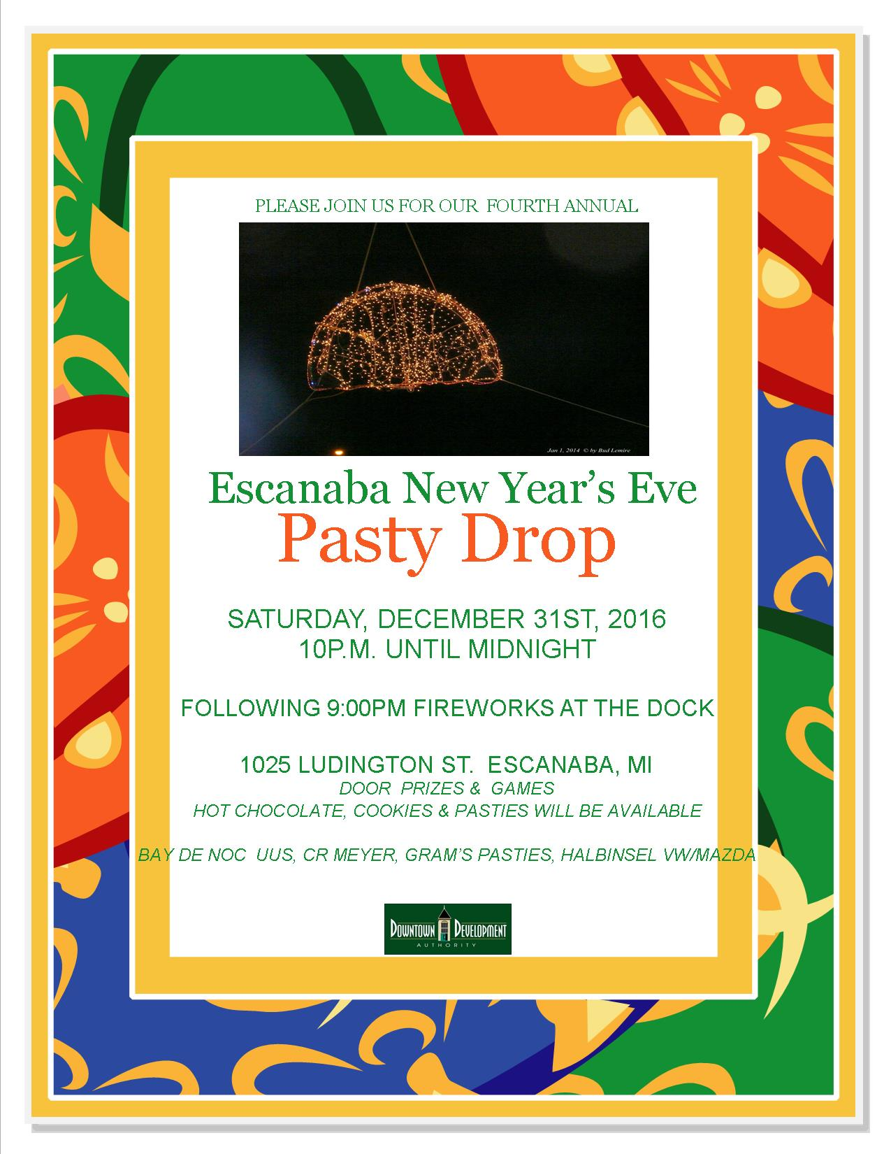 2016 4th Annual Pasty Drop & Frieworks